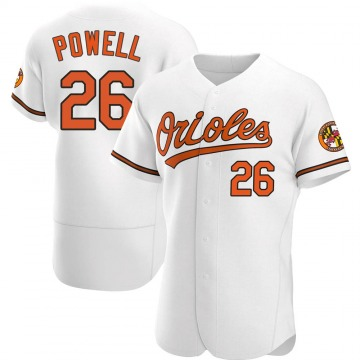Men's Boog Powell Baltimore Orioles Authentic White Home Jersey
