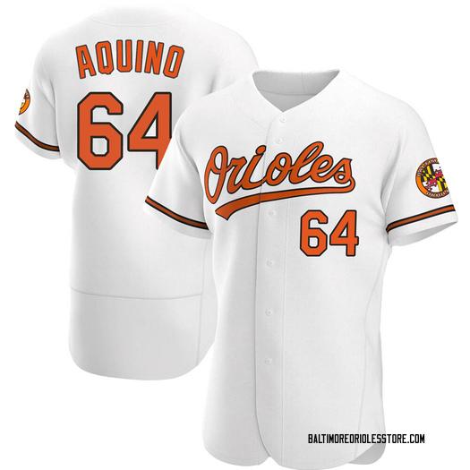 Men's Jayson Aquino Baltimore Orioles Authentic White Home Jersey