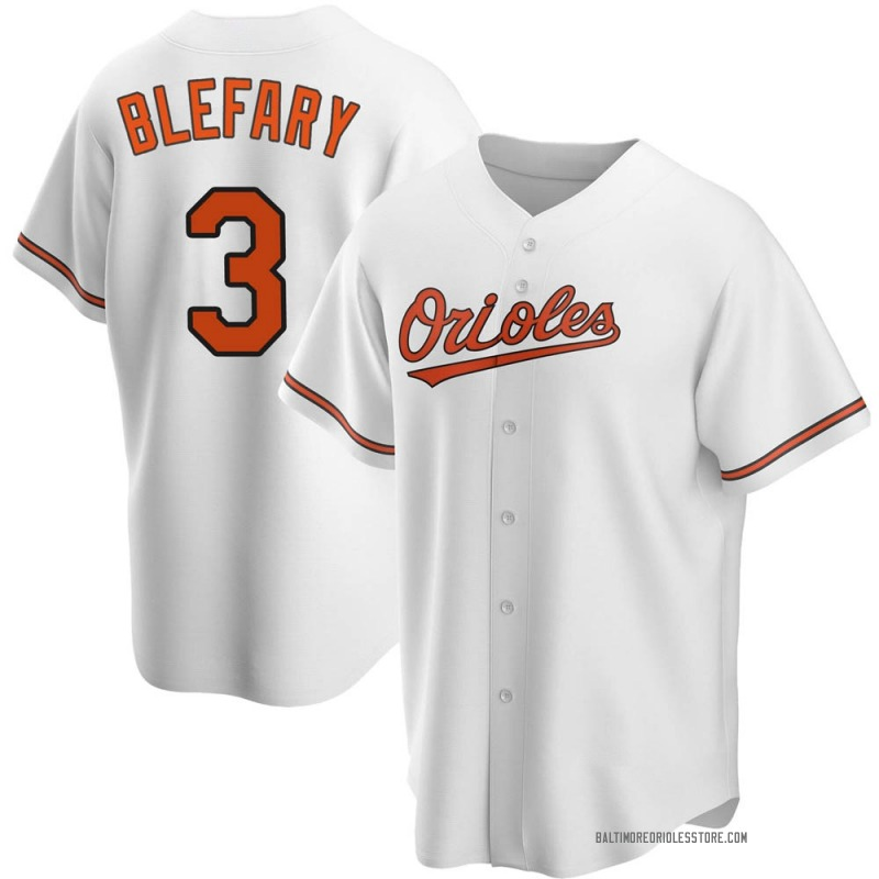 Youth Curt Blefary Baltimore Orioles Replica White Home Jersey