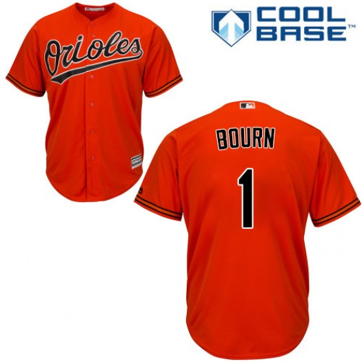 Youth Majestic Michael Bourn Baltimore Orioles Player Authentic Orange Alternate Cool Base Jersey